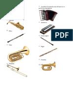 10 Instrumentos de Viento Curda y Percusion