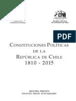 Constituciones Políticas de Chile Años 1810-2015