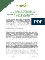 Fosforo-potasio y Sistema Fertirriego