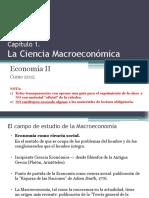 La Ciencia Macroeconomica