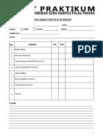 1 Senarai Semak Portfolio Internship