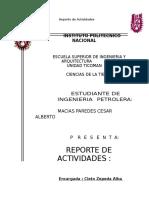 Reporte de Practica CD. Del Carmen