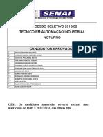 Aprovados -Automação NOTURNO- 2016_02