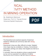 Electrical Resistivity Method in Mining Operation