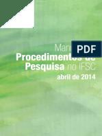 Manual de Procedimentos Da PesquisaV2