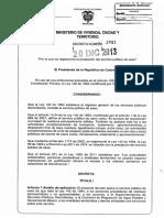 decreto 2981 - 2013