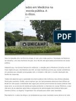 88,2% Dos Aprovados Em Medicina Na Unicamp São Da Escola Pública. a Realidade Por Trás Disso