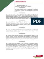 Decreto 5-99 Ley Para La Protección Del Ahorro