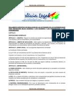 REGLAMENTO ESPECÍFICO DE REGULACIÓN DE LAS ACTIVIDADES DE LOS SUPERMERCADOS PARA PROTECCION DELAS USUARIAS Y LOS USUARIOS Y LAS CONSUMIDORAS Y LOS CONSUMIDORES