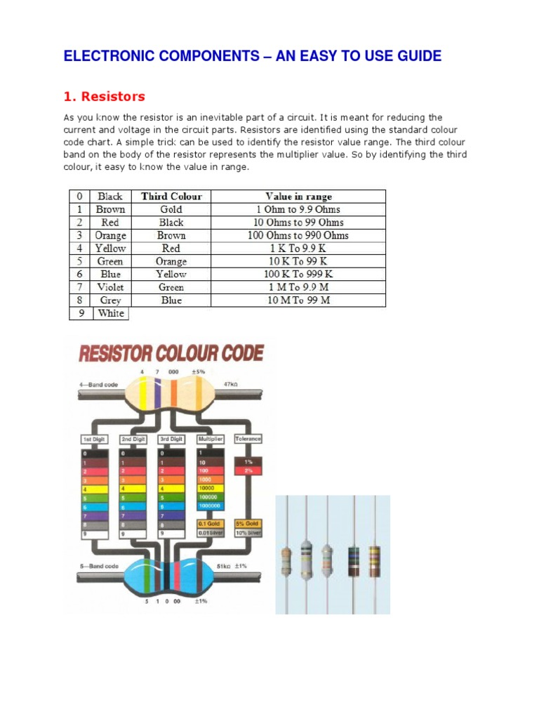 Electronic Components An Easy To Use Guide Capacitor Resistor How Reduce Voltage With Resistors