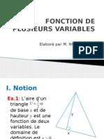 1 Fonction de Plusieurs Variables