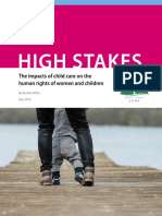 West Coast Leaf - High Stakes - The impacts of child care on the human rights of women and children