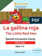 LittleRedHen Spanish First Day Magic Worlds