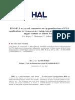 External Parameter Orthogonalisation