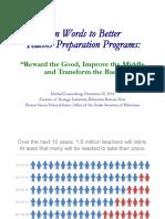Teacher Education Reform 1.0 Dannenberg