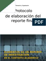 Protocolo  de elaboración del reporte final
