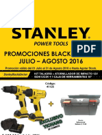 Ofertas Stanley Power Tools Julio - Agosto 2016