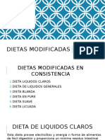 Dietas modificadas