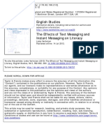 The Effects of Text Messaging and Instant Messaging on Literacy
