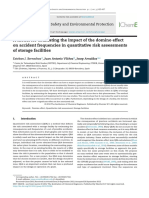 A model for estimating the impact of the domino effect on  accident   frequencies  in quantitative  risk assessments of  storage facilities