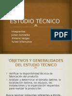 Estudio técnico para formulación y evaluación de proyectos