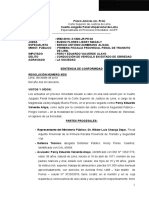 Sentencia de Proceso Inmediato Conducción de Vehículo en Estado de Ebriedad Legis.pe