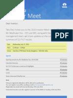 Analyst Meet [Company Update]