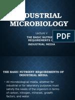 Industrial Microbiology Lec 5