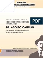 Memorias Del I Congreso Internacional de Investigación Dr. Adolfo Calimán