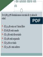 Porcentaje de Unión Libre en Nuestro País