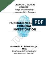 Fundamentals of Criminal Investigation TextBook