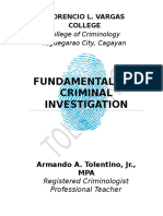 Fundamentals of Criminal Investigation TextBook