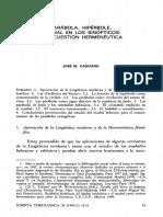 Casciaro, J. M., Parábola, Hipérbole, Mashal en Los Sinópticos Una Cuestión Hermenéutica