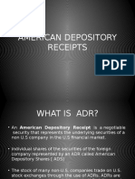 ADR, GDR, AND IDR