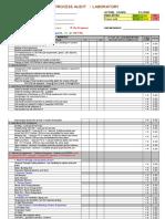 Lab Audit Checklist ( PRIDE ) - 2014
