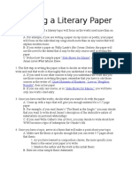 Writing a Literary Paper