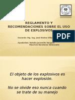 Reglamento y Recomendaciones Sobre El Uso de Explosivos