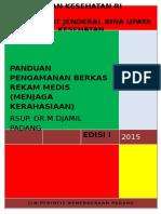 Cover Panduan Pengamanan Berkas Rekam Medis