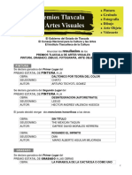 Acta de Dictaminación Premios Artes Visuales Tlaxcala 2015