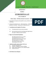 Syllabus of LL.B Part II Semester IV