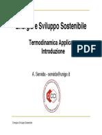 Termodinamica Applicata Introduzione