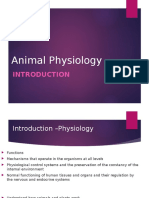 Lecture 1 Animal Physiology Intro