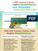 HHS 435 Course Career Path Begins Hhs435dotcom