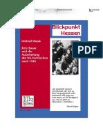 Fritz Bauer und die Aufarbeitung des NS-Verbrechen nach 1945