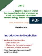 unit 2 metabolism