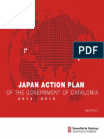Japan Action Plan Government of Catalonia 2012 2015