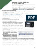Tarik Data Mesin Absensi X100C Ke MySQL - Menampilkan DgnPHP Part-1