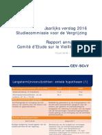 Jaarlijks verslag 2016 Studiecommissie voor de Vergrijzing - Powerpoint - persconferentie
