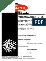 Manual Volkswagen Lt 35 2.5 Sdi
