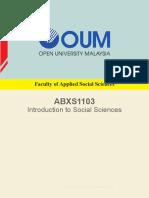 ABXS1103 Intro to Social Sciences